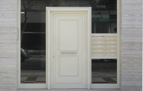 Puerta y buzones en pvc