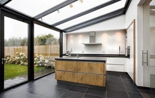ventanal y techo de pvc